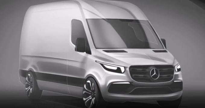 Render del nuovo Mercedes Sprinter 2018