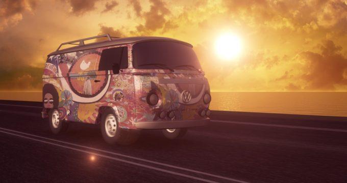 furgone camperizzato volkswagen in viaggio