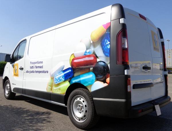 Trasporto di medicinali con furgoni refrigerati con allestimento apposito